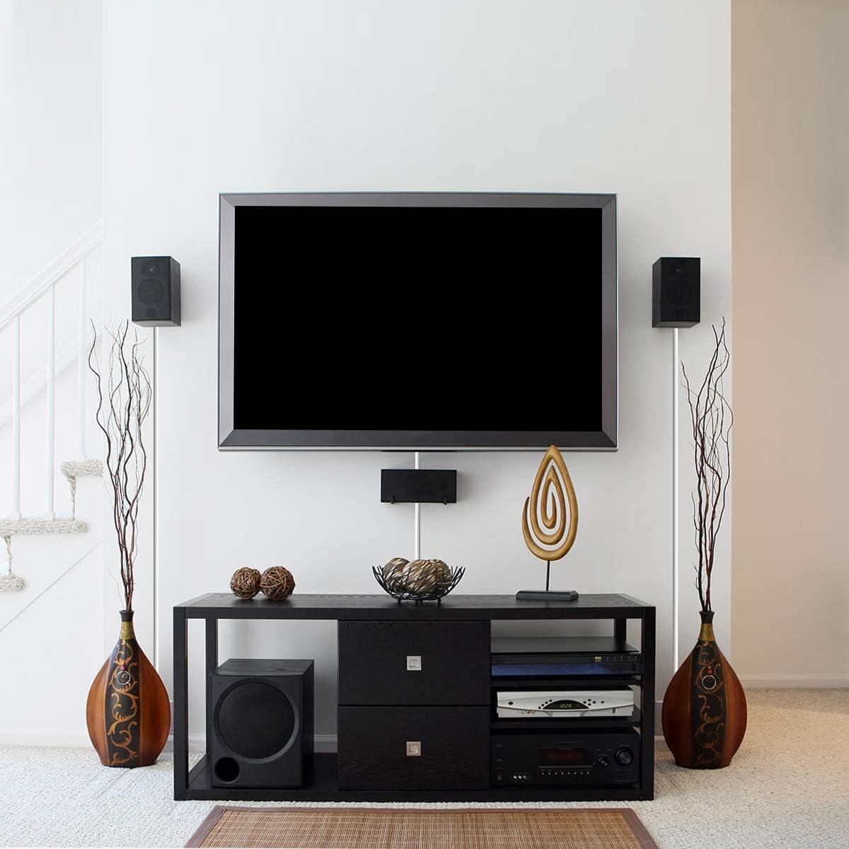 Stageek 6M Canaleta para Cableado Cavo on-wall Cover per cavo di ordinamento gestione cavo autoadesiva per nascondere fili Bianco 16x39cm cavi per TV e computer a parete Canal de Cable