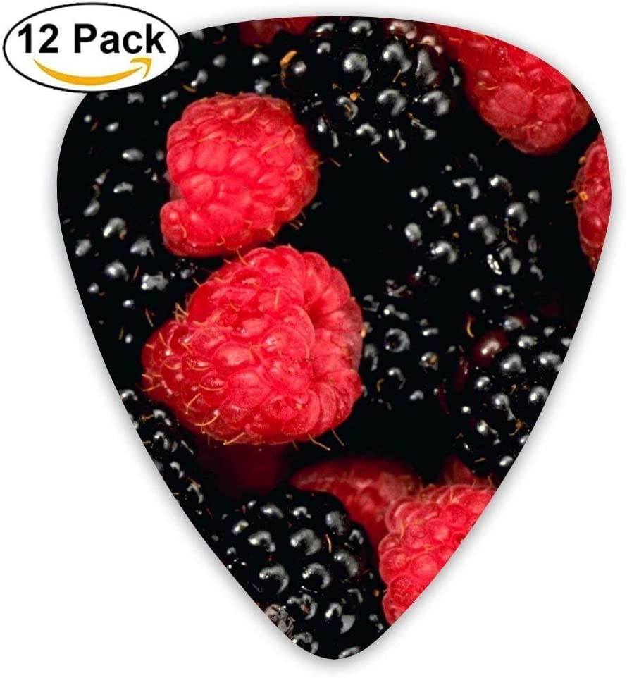 Berry Raspberry Blackberry Red Guitar Picks - 12 pack: Amazon.es ...