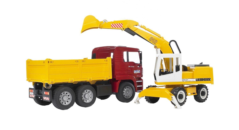 Bruder 02751 Toys Man Tga Kipper Und Schaufelbagger Amazon De