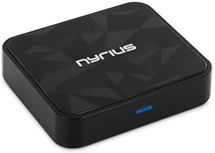 Nyrius Songo HiFi Wireless Bluetooth aptX Music Receiver for Streaming iPhone, iPad, Samsung, Android, Smartphones, Tablets, Laptops to Stereo Systems with Digital Optical & 3.5mm Audio Input (BR50)