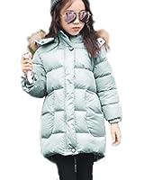 76884405ea7da MissとMr 子供ダウンジャケット ダウンコートキッズ子供用 ロングダウンジャケット アウター 軽量 秋 冬 暖かい ライトダウン フード付き 厚め…