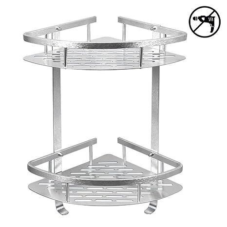 Amazon.com: Estantería de ducha de aluminio para esquina de ...
