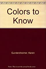 Colors to Know Hardcover