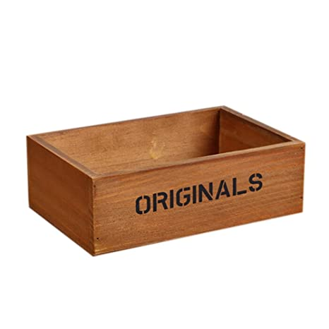 Amazon.com : Outflower Rectangular Wooden Succulent Pot Micro-landscape Ecological Box : Garden & Outdoor