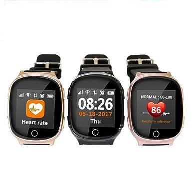 D100 Ancianos GPS Bluetooth reloj inteligente posicionamiento lbs WiFi Seguridad anti-lost localizador SOS reloj