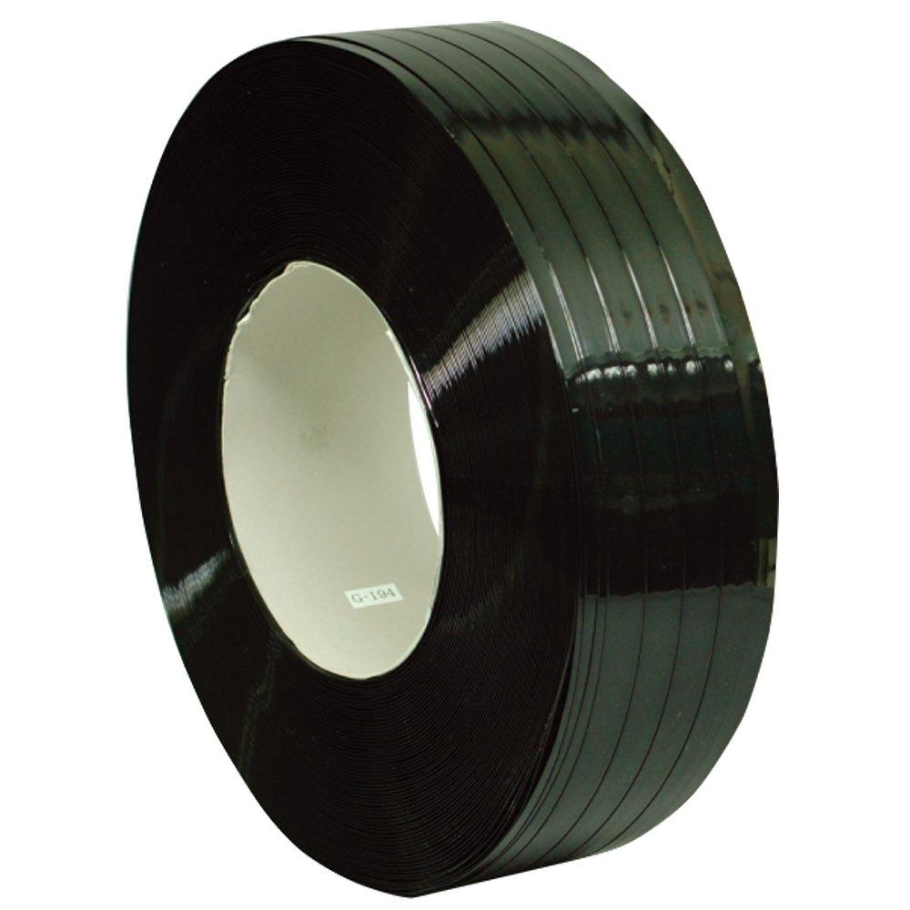 司化成工業 エステルバンド E-196 黒 19mm×1500M 1ケース(1巻入) PPバンド B00DHFFQMM