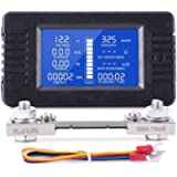 Spartan Power DC Meter Battery Monitor & Multimeter 0-100A 0-200VDC LCD Display Comes with 100A Current Shunt and Wiring…