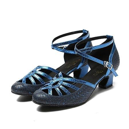 6b4a4480 JSHOE Zapatillas De Baile Mujer para Salón Latino Salsa Satén Floral/Tango  / Chacha/Samba / Moderno/Zapatos De Jazz Sandalias Tacones Altos ...