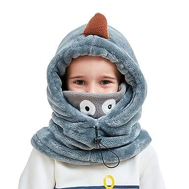 0595d497490 VIVO SUN Enfant Bonnet d Hiver Cagoule Bébé Écharpe Fille Garçon Cache- Oreilles Calotte