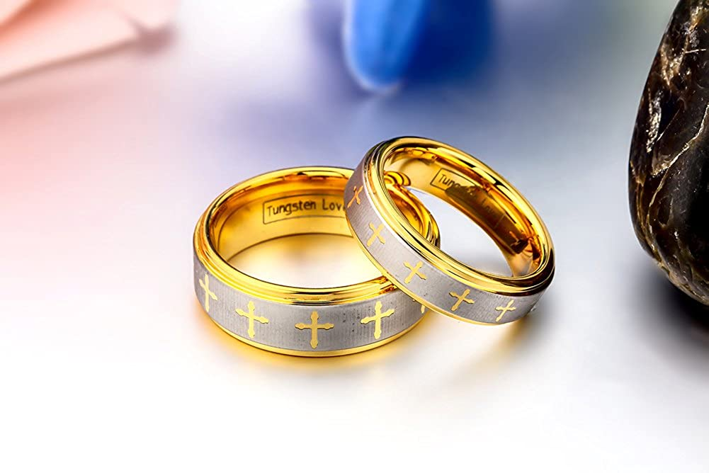 JewelryWe joyas para hombre carburo de tungsteno Anillo, con Celta ...