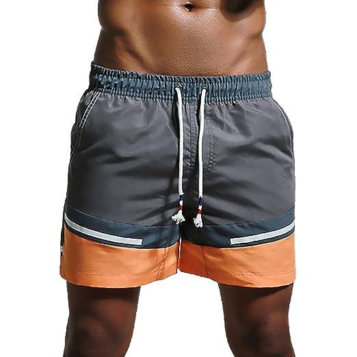 5b17f9652b Feelingwear Big Boys Summer Swim Trunks Beach Board Shorts Quick Dry Swimwear  Bathing Suit Grey Size