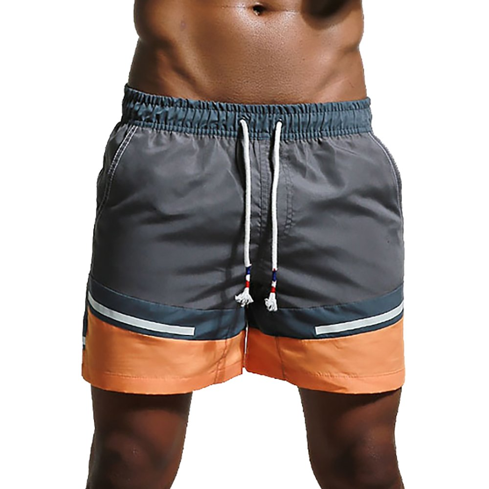 Feelingwear Mens Mesh Linging Swim Trunks Swimwear With Pocket Summer Vacation Shorts Grey Size US L/Tag XXL