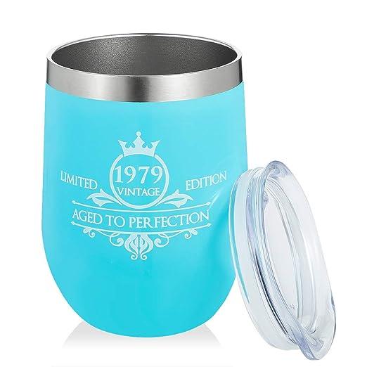 MELANIES POWER 40/50th Vaso de vino de regalo de cumpleaños ...