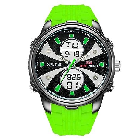 North King Reloj ElectróNico Multi FuncióN Impermeable Hombres ElectróNico Reloj con LED Luz De Silicona Relojes