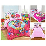 Shopkins Kids 5 Piece Bed in a Bag Full Size Bedding Set - Reversible Comforter, Microfiber Sheets & Pillow Cases by Moose Shopkins