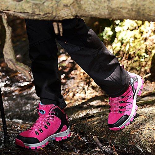 Alta scivolare Rosso Non Trekking Unisex Scarpe Gomnear Donne da escursionismo ginnastica Scarpe arrampicata Rise Stivali da Uomini All'aperto wTPqU8f