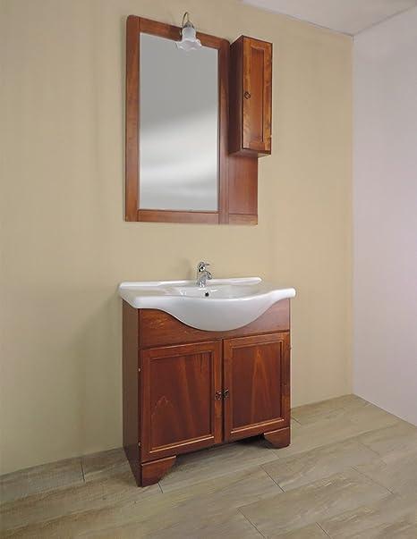 Mobile bagno a terra classico Savini Eco, misura cm 85, lavabo e ...