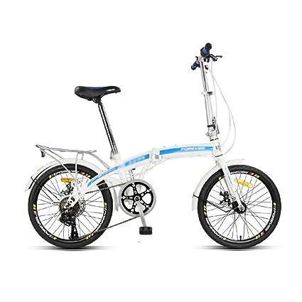 Bicicleta para adultos Velocidad variable Ultraligero Portátil Rueda pequeña Bicicleta Bicicleta Cambio de 7 velocidades Cambio