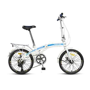 Bicicleta para adultos Velocidad variable Ultraligero Portátil Rueda pequeña Bicicleta Bicicleta Cambio de 7 velocidades Cambio de 16 pulgadas Diseño de ...