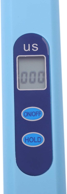 SovelyBoFan Testeur deau num/érique LCD EC conductivit/é testeur de perche 0-9999 /μs//cm Bleu