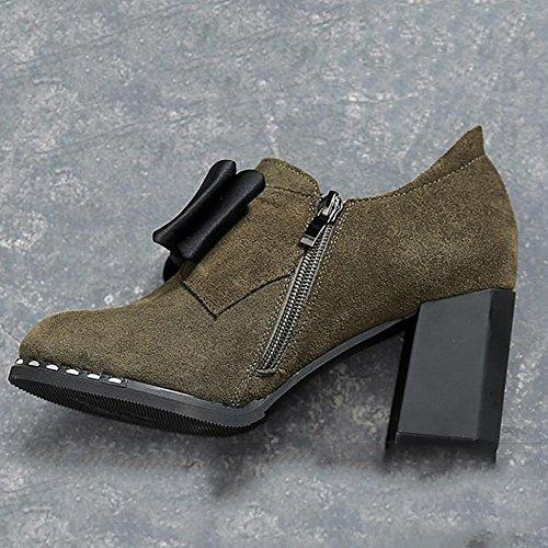 cn36 À Chaussures Rond 1003 L'hiver Eu36 En Taille Talon Décontractée uk4 1003 Bureau Carrière Fufu Femmes Chaussettes couleur Pour Hiver Un Dans Une F1qzdnXx