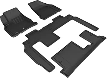 3D MAXpider Complete Set Custom Fit All-Weather Floor Mat for Select Chevrolet Impala Models Kagu Rubber Gray