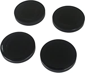 Geesatis Floor Protector Accessories 4 pcs Piano Caster Cups Rubber Caster Cups, Furniture Wheel Stoppers, Furniture Coasters, Non Skid Grip Cups, for All Floors or Wheels, Dia 3.2 inch; Black