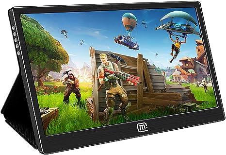 Monitor de juego portátil para Nintendo Switch, pantalla IPS de 13,3 pulgadas, HDR USB C/Hdmi entrada de vídeo con funda de soporte, compatible con PS4, Xbox One y MacBook Matebook, superficie de