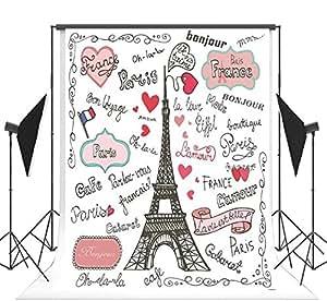 1.5x2.2m dibujos animados pintura Torre Eiffel de París