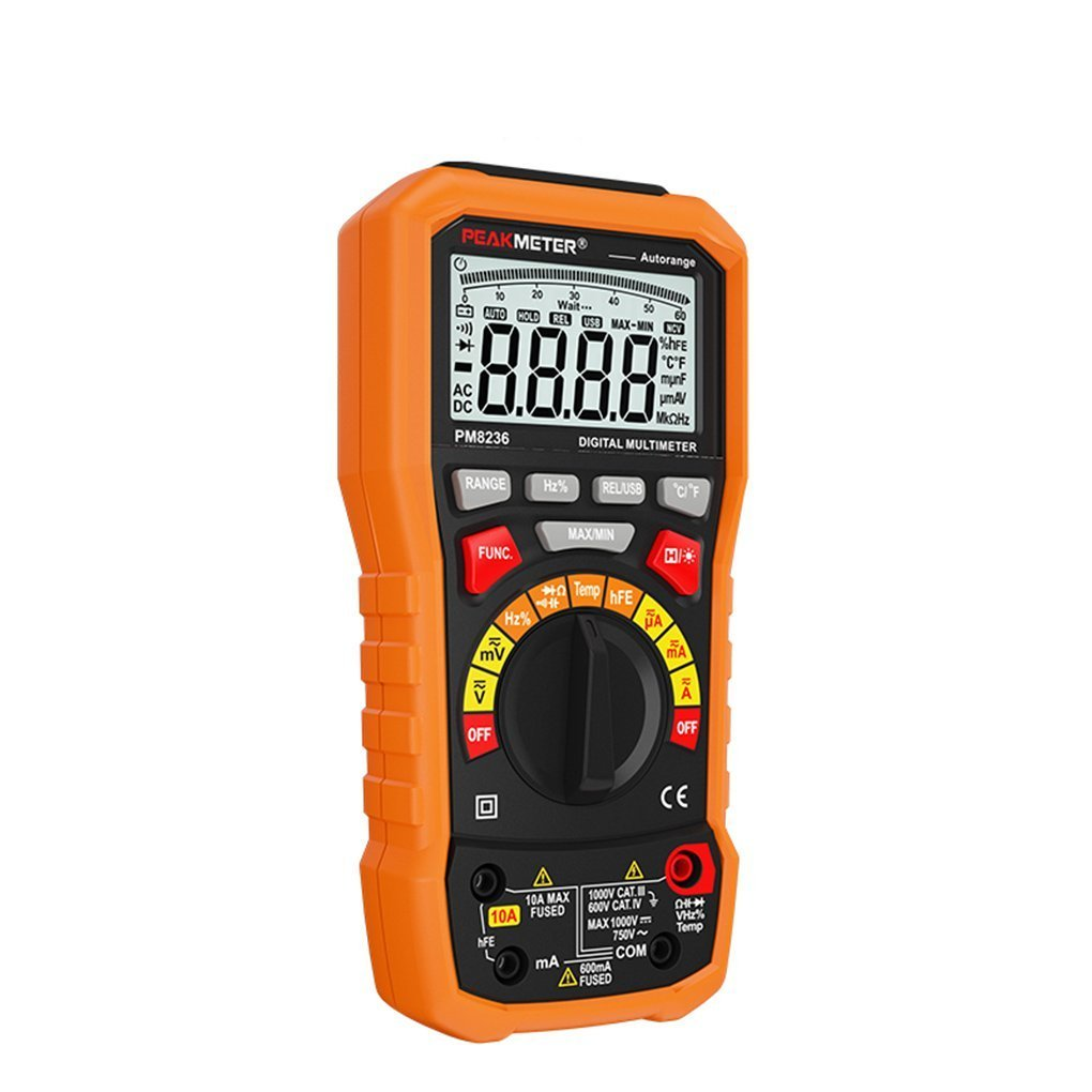 Kiamitor PM8236 Auto Range Auto Power off Digital Multimeter with Temperature Test and Data Logger