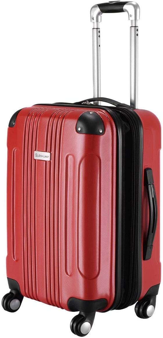 Rose Custpromo Expandable 20 ABS Carry On Luggage Travel Bag Suitcase