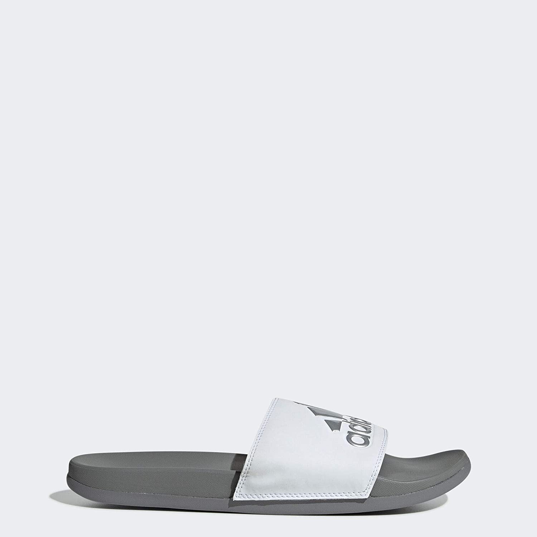 gran venta estilo clásico vista previa de adidas Adilette Cloudfoam Plus Logo Slides Men's