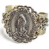 Sweet Romance Virgin Mary Adjustable Hammered Cuff Bracelet