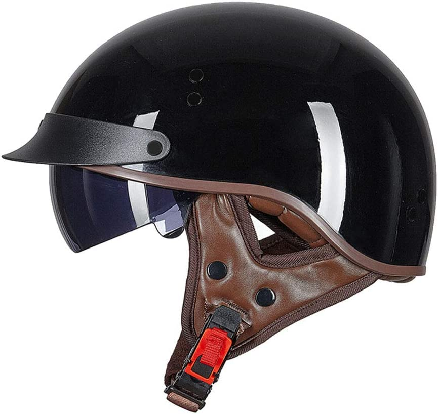 DUCCM Retro Motorrad Helm,Jethelm Unisex Cruiser Jet Skateboard Scooter Helm Motorrad Chopper Roller Fahrradhelm Antikollisionsschutzhelm ECE-Zertifizierung