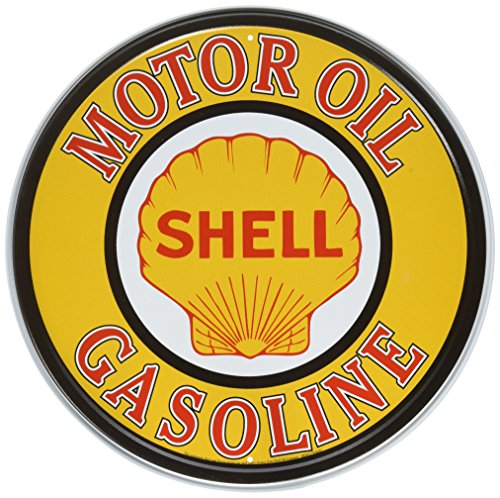 Shell Gas Oil - Shell Gas & Oil Tin Sign 12 x 12in
