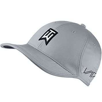 NEW Nike Tiger Woods Ultralight RZN Vapor Wolf Grey Black Adjustable Hat Cap 48f7baf34d7