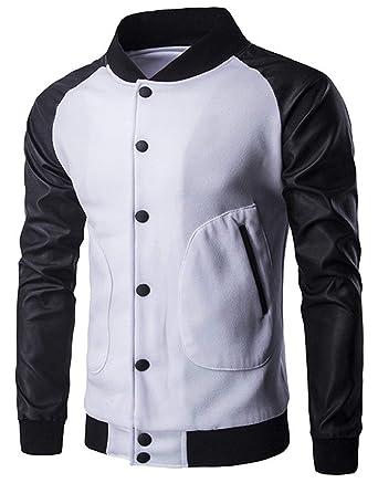 Huixin Unisex Chaqueta De Bombardero Urban Basic Hip Jacket ...