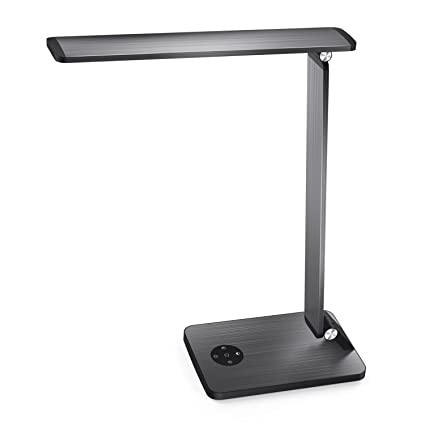 Lights & Lighting Silver Aluminum Alloy 10w Auto Expanded Foldable Portable 3 Mode Dimmable Table Desk Night Light Lamp Lamps & Shades