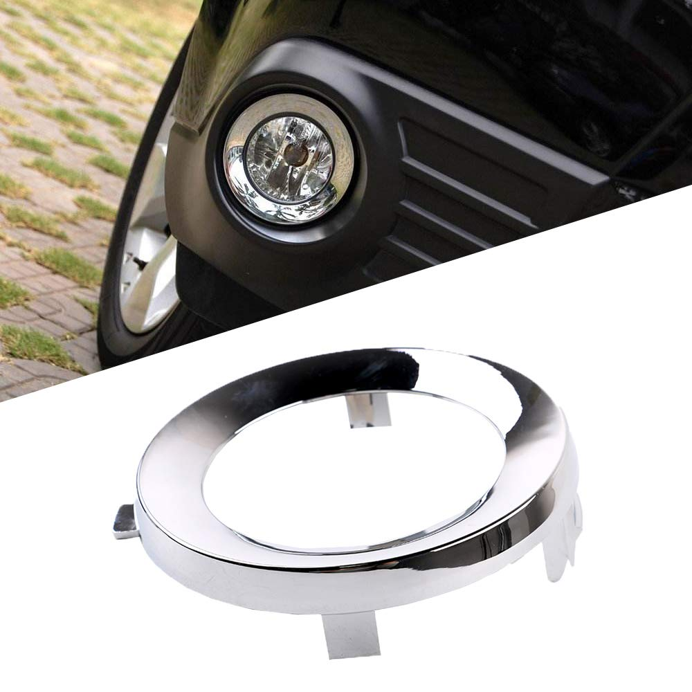 Front Fog Light Lamp Side Chrome Ring Cover Fit For Subaru Forester 2009-2013
