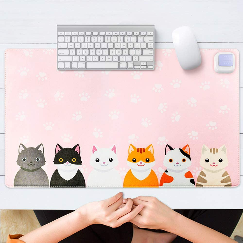 Office//Home JIAW Heated Mouse pad Childrens Writing Warm Flashlight Heating pad Heated Desk pad Winter Desk pad
