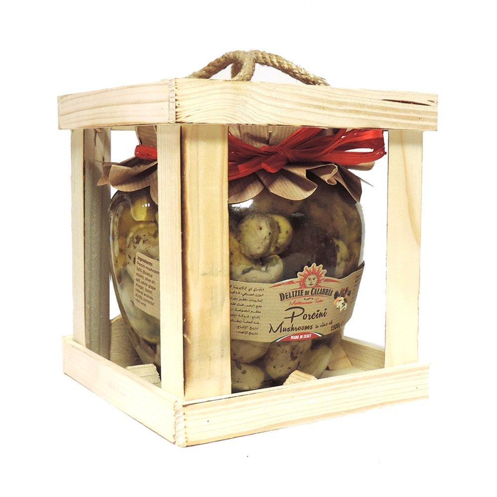 Delizie Di Calabria - Porcini Mushrooms in Olive Oil - 1.5kg (Case of 6)