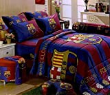 Barcelona Football Club Official Licensed Bedding In Bag Set (Queen Size, BC001); 1 Four Season Comforter with 4 pieces of Bed Fitted Sheet Set
