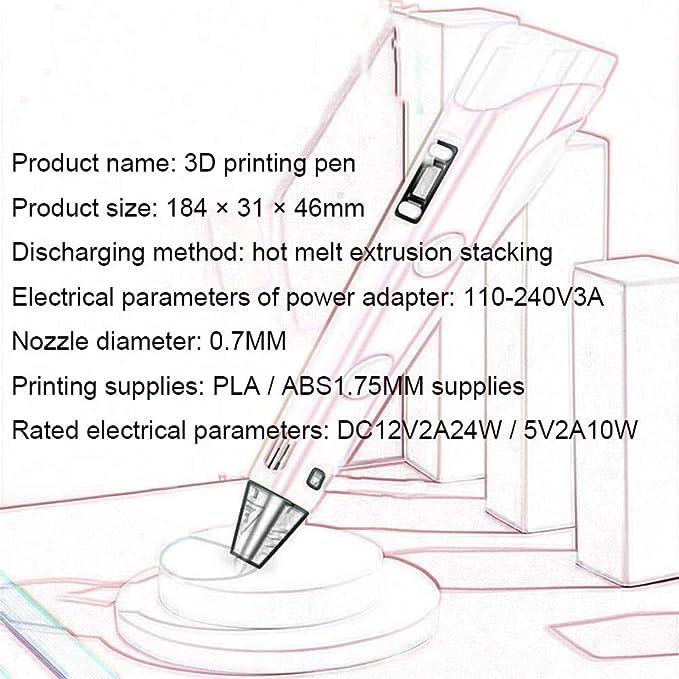 YLL Pantalla LCD 3D Pluma Inteligente Niño impresión 3D estéreo ...