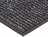 NoTrax 109 Brush Step Entrance Mat, for Lobbies and Indoor Entranceways, 4' Width x 8' Length x 3/8'' Thickness, Charcoal