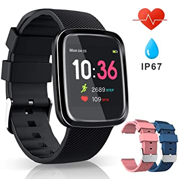 VASCOO SmartWatch, Reloj Inteligente con Impermeable 67, Pulsera ...