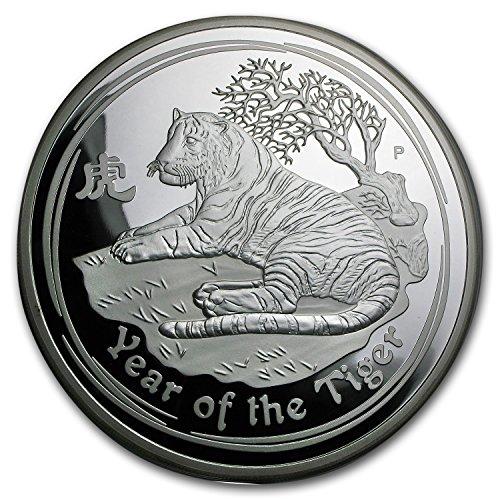 (2010 AU Australia 1 kilo Silver Year of the Tiger Proof (DMG Box) Silver Brilliant Uncirculated)