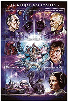 Star Wars stamps - Star Wars - 9 stamps. Mint and never mounted stamp sheet