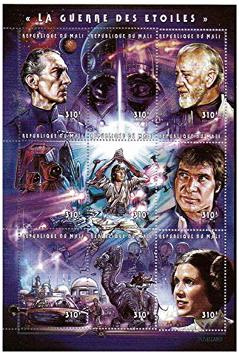 Star Wars stamps - Star Wars - 9 stamps. Mint and never mounted stamp sheet ()