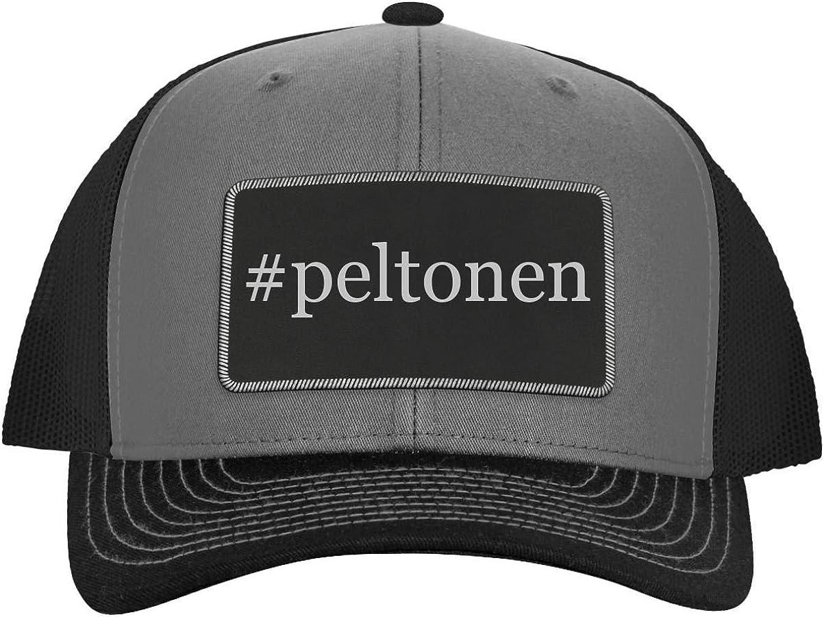 One Legging it Around #peltonen Leather Hashtag Black Patch Engraved Trucker Hat