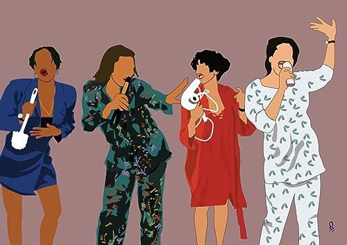 Amazon Living Single Art Print Poster 90s TV Classic Show